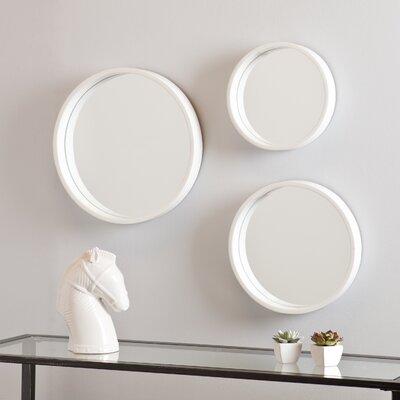 Wall Mirror Set three posts 3 piece round wall mirror set & reviews | wayfair