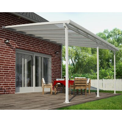 Palram Feria 10 Ft H X 14 W 13 D Patio Cover Awning Reviews Wayfair