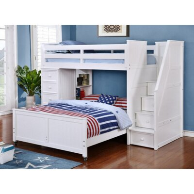 Harriet Bee Danelle Twin Over Full L Shaped Bunk Bed