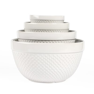 Tabletops Gallery 4 Piece Hobnail Mixing Bowl Set U0026 Reviews | Wayfair