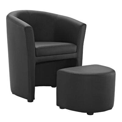 Ebern Designs Cordie Barrel Chair and Ottoman Reviews Wayfair