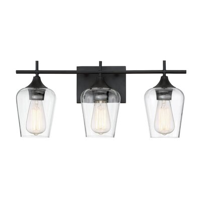 Lantern Bathroom Vanity Lights zipcode design staci 3-light vanity light & reviews | wayfair