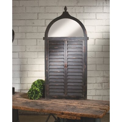 Wall Mount Jewelry Armoire Mirror tripar shutter wall mounted jewelry armoire with mirror | wayfair