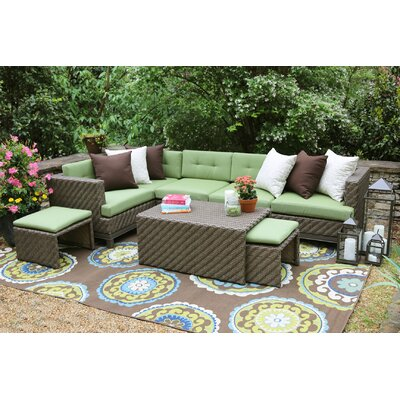 AE Outdoor Hampton 8 Piece Sectional Seating Group With Cushions U0026 Reviews  | Wayfair
