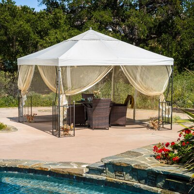 Home Loft Concepts Salerno 11.5 Ft. W X 11.5 Ft. D Steel Permanent Gazebo U0026  Reviews | Wayfair