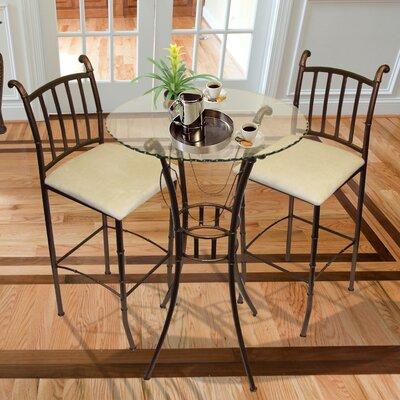 . Hazelwood Home Italian 3 Piece Pub Table Set   Reviews   Wayfair
