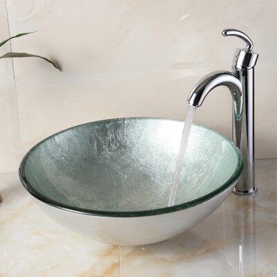 Elite Hand Painted Foil Round Bowl Circular Vessel Bathroom Sink Reviews Wayfair