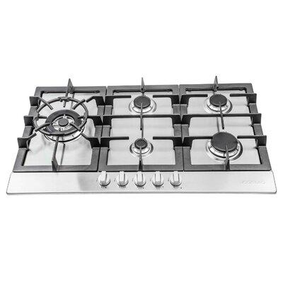 six burner gas cooktop