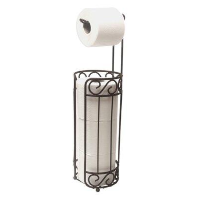 home basics free standing toilet paper holder and dispenser u0026 reviews wayfair