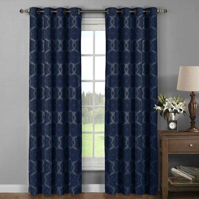 Window Elements Avila Geometric Sheer Grommet Curtain Panels U0026 Reviews |  Wayfair