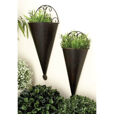 Metal Wall Planter three posts avon 2-piece metal wall planter set & reviews | wayfair