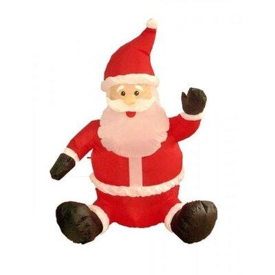 Three Posts Christmas Inflatable Sitting Santa Claus Decoration | Wayfair
