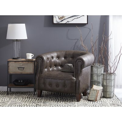 Alcott Hill Granger Faux Leather Tufted Chesterfield Chair U0026 Reviews |  Wayfair