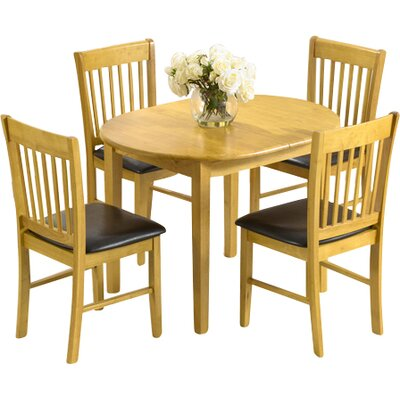 Home Etc Nolsoy Extendable Dining Set with 4 Chairs Reviews
