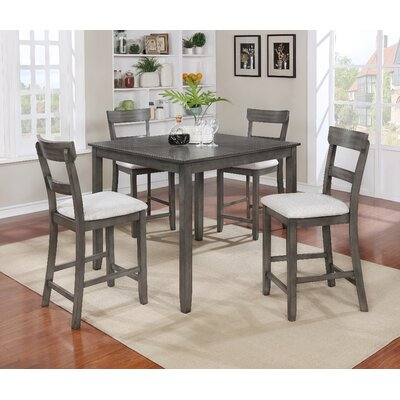 Crown Mark Henderson 5 Piece Counter Height Dining Set Reviews