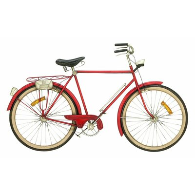 Bicycle Wall Decor cole & grey metal bicycle wall décor & reviews | wayfair