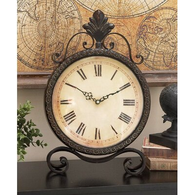Cole U0026 Grey Metal Table Clock U0026 Reviews | Wayfair