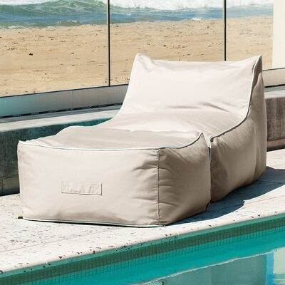 Lounger Bean Bag Chair hip chik chairs sunbrella bean bag lounger set & reviews | wayfair