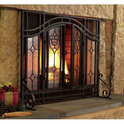 Plow & Hearth Single Panel Glass Fireplace Screen & Reviews | Wayfair