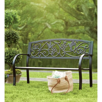 Plow Amp Hearth Hummingbird Metal Garden Bench Amp Reviews