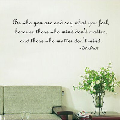 Pop Decors Be Who You Are And Say What You Feel  Dr.Seuss Wall Decal U0026  Reviews | Wayfair Part 58