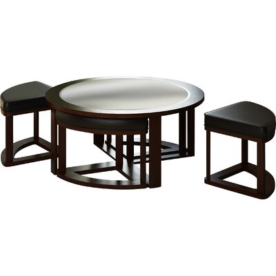 Dcor Design Belgrove Coffee Table With 4 Stools Reviews Wayfair