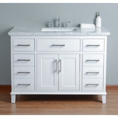 "Bathroom Vanities Boise highland dunes caudill 48"" single bathroom vanity set & reviews"