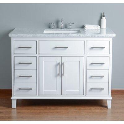 bathroom vanity. Highland Dunes Caudill 48  Single Bathroom Vanity Set Reviews Wayfair