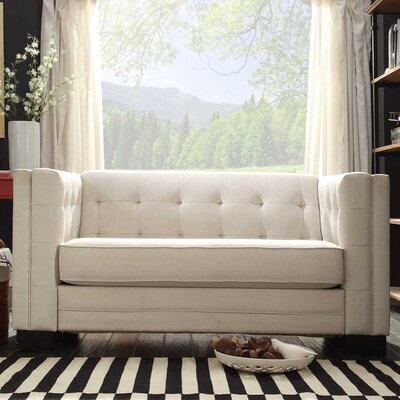 Mercury Row Rolland Tufted Upholstered Loveseat Reviews Wayfair - Tufted upholstered sofa