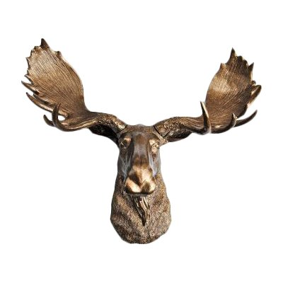 Moose Wall Decor loon peak moose head faux taxidermy wall décor & reviews | wayfair