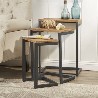 Nesting Tables mercury row cetus 3 piece nesting tables & reviews | wayfair