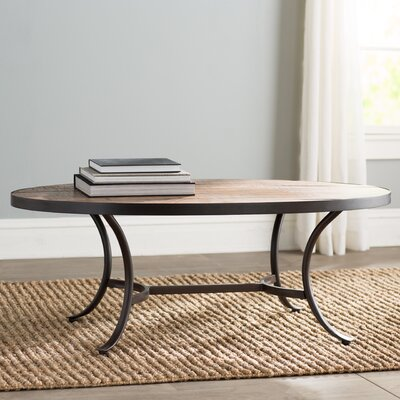 Oval Coffee Table mercury row ceres oval coffee table & reviews | wayfair