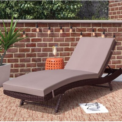 Mercury Row Prudence Reclining Patio Chaise Lounge with Cushion u0026 Reviews | Wayfair : pool chaise lounges - Sectionals, Sofas & Couches