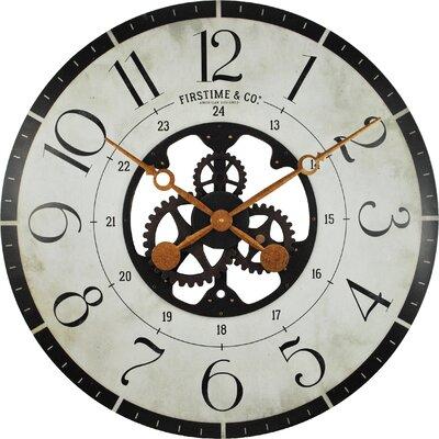 wood wall clock. trent austin design oversized deseret gears 27\ wood wall clock