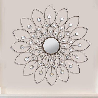 White Flower Wall Decor stratton home decor decorative flower wall mirror & reviews | wayfair