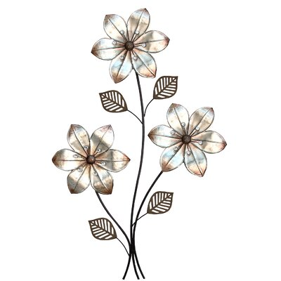 Stratton Home Decor Eclectic 3 Stem Floral Wall D cor   Reviews   Wayfair. Stratton Home Decor Eclectic 3 Stem Floral Wall D cor   Reviews