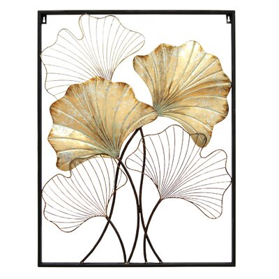 . Stratton Home Decor Palm Branch Panel Wall D cor   Reviews   Wayfair