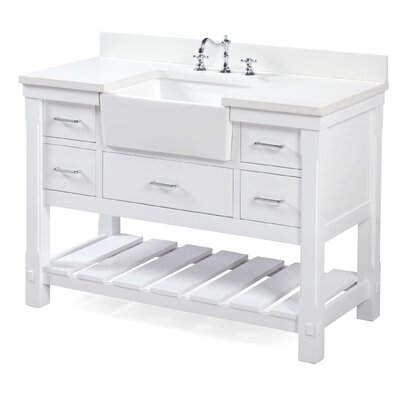 "Bathroom Vanities Set kbc charlotte 48"" single bathroom vanity set & reviews 