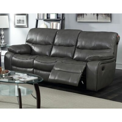 Red Barrel Studio Bradley Leather Reclining Sofa U0026 Reviews | Wayfair Part 73