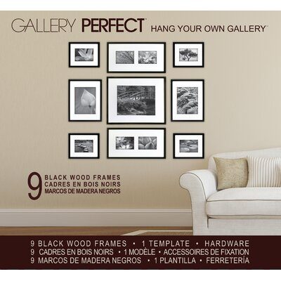 Wall Picture Frame Set red barrel studio 9 piece wood picture frame set & reviews | wayfair