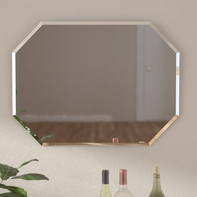 Red Wall Mirror red barrel studio cannonball creek frameless beveled wall mirror