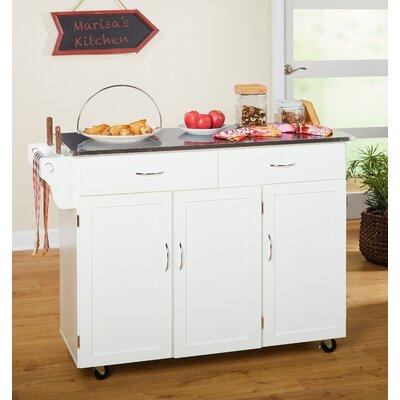 kitchen island with stainless steel top u0026 reviews birch lane