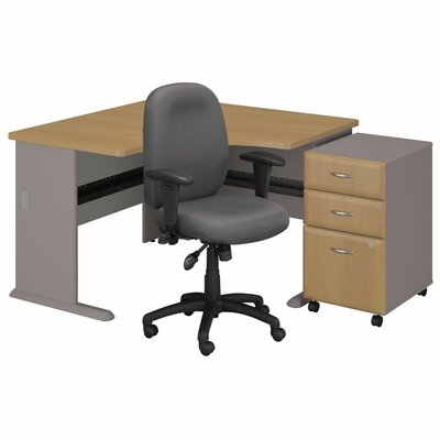 Bush Business Furniture Series A 3 Drawer File Corner Executive Desk U0026  Reviews | Wayfair
