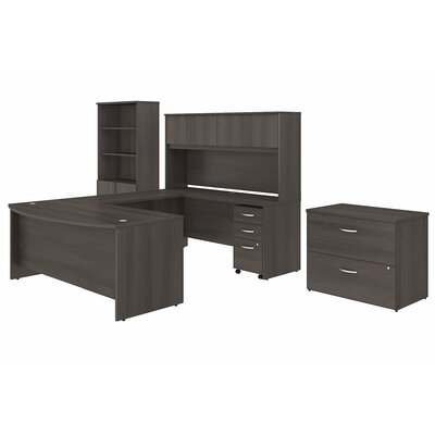 bush business furniture studio c 7 piece u shaped desk office suite u0026 reviews wayfair