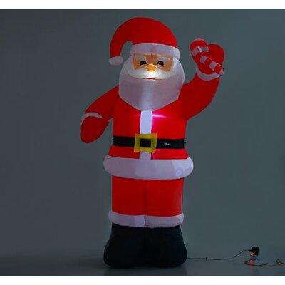 Homcom Christmas Santa Claus Inflatable Decoration U0026 Reviews   Wayfair.co.uk
