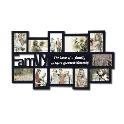 Zipcode Design 11 Opening Wooden Photo Collage Wall Hanging