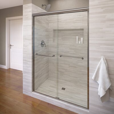 "Framed Sliding Shower Doors basco infinity 40"" x 70"" frameless bypass sliding shower door"