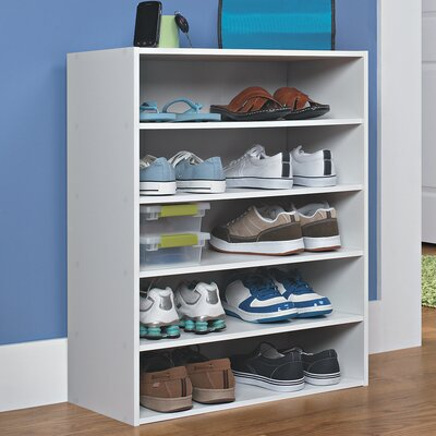 Closetmaid Stackable 5 Tier Shoe Rack Amp Reviews Wayfair