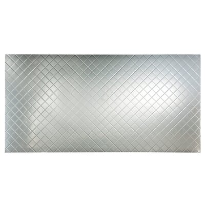 Fasade Quilted 4 X 8 Pvc Backsplash Panel In Brushed Aluminum Wayfair