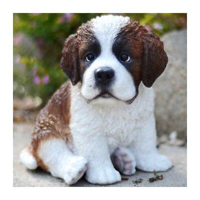 Hi Line Gift Ltd Sitting Saint Bernard Puppy Statue Reviews Wayfair